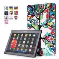 Ultra Thin Smart Cover Leather Case Tab2 A10 30 Leather Cover Case Funda For Lenovo Tab