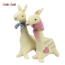 JueJue New Korea Couple Deer Cloth Doll Toys Boys&Girls Deer Handmade cloth Plush Toys Gift Creative Home Decor Ornaments