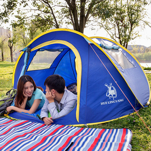 Image 2 - Werfen zelt im freien automatische zelte werfen pop up wasserdichte camping wandern zelt wasserdicht familie zelte Geschwindigkeit offene Familie