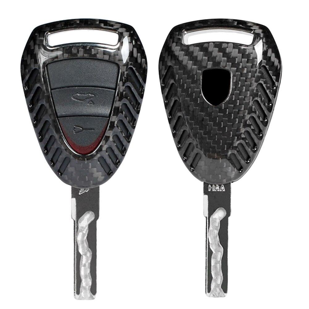 Carbon Fiber 3 Button Car Auto Remote Key Case For 2003 2010 Porsche 911 1999 2008