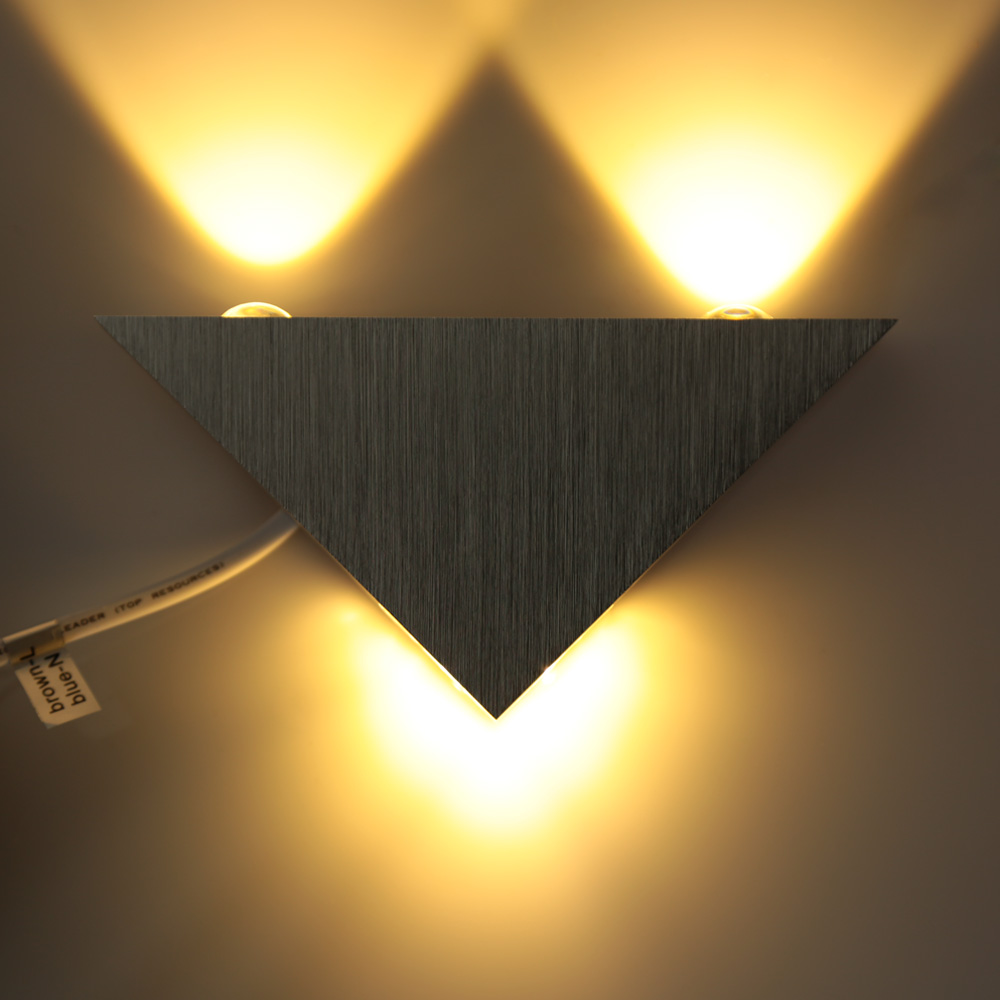 Bedroom modern wall lights - 3w 85 265v Ac Modern Simple Style Aluminum Led Wall Light Lamp Indoor Bedroom Hallway
