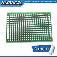 1 шт. 4x6 см 4*6 двухсторонний Прототип PCB diy универсальная печатная плата hjxrhgal
