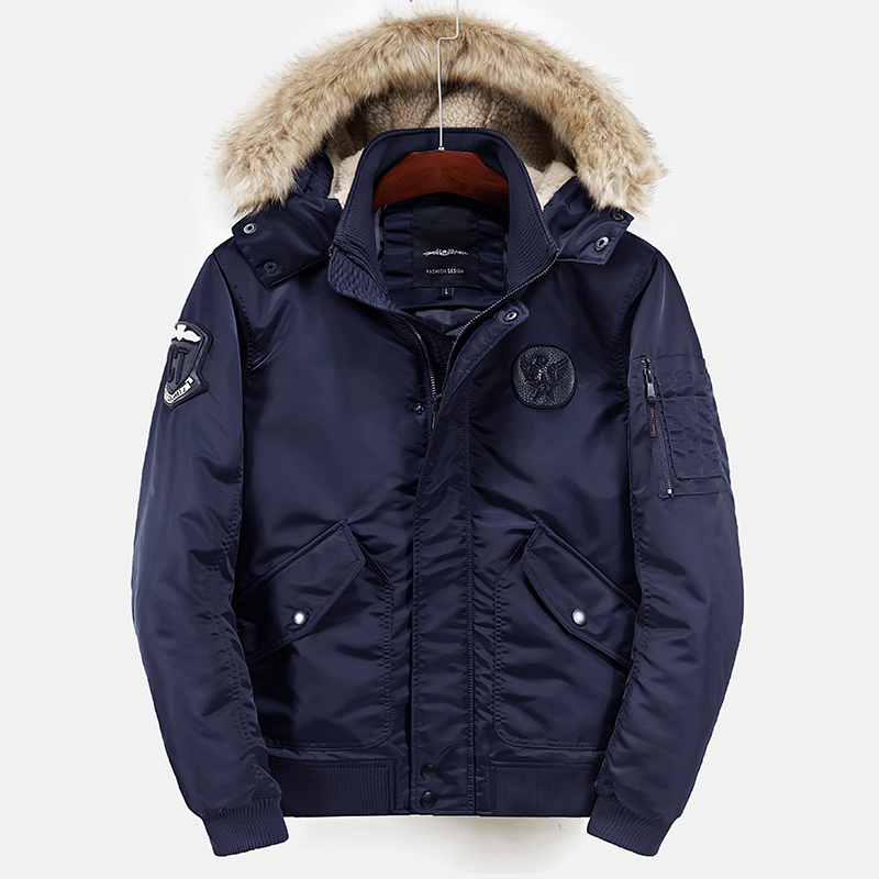Men Military Air Parka Polyester Winter Jackets And Coats For Men Thick Warm Flight Jacket Coat Fashion Casual Embroidery Logo