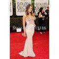 Venda quente 2014 Golden Globe Awards Formal vestido Applique andar de comprimento sereia Red Carpet Celebrity Dresses XY264