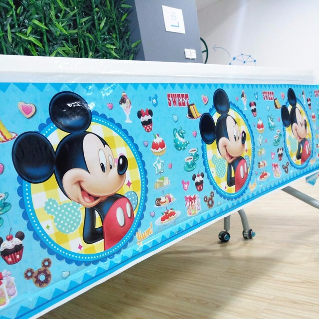 1pcs Lot Mickey Mouse Tablecloths Kids Birthday Party Supplies