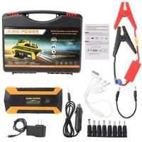 89800mAh 4 USB Portable Car Jump Starter Pack Booster Charger Battery Power Bank Support Fast Charging