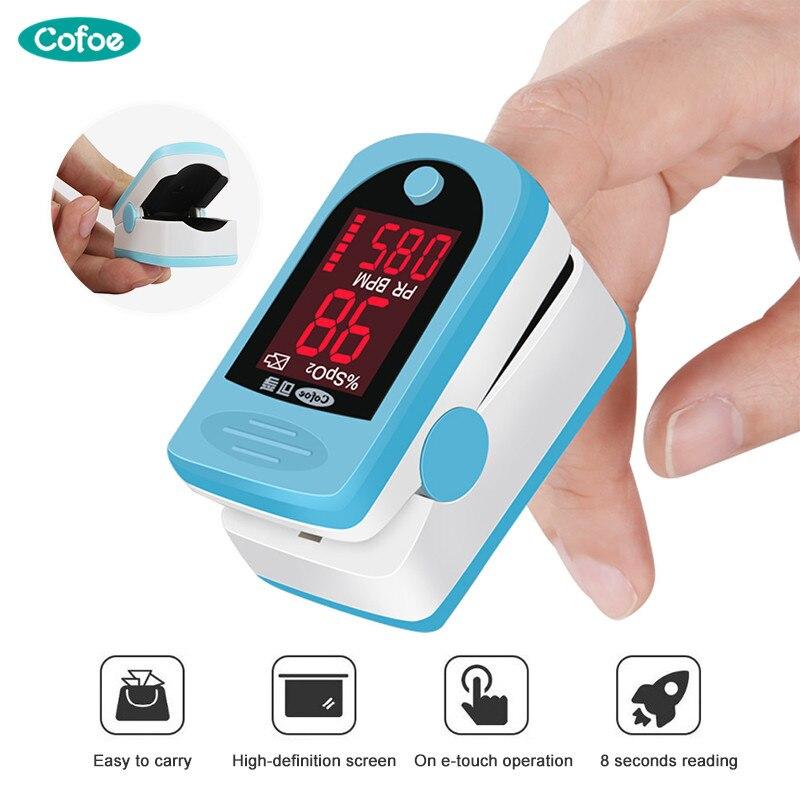 Cofoe Pulse Oximeter Finger Pulse Oxymeter Digital Oxygen Meter Clip Type SPO2 PR Sensor OLED Display Fingertip Pulse Oximeters