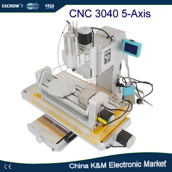 Newest 5 Axis mini CNC engraving machine wooden router 3040 1.5KW water cooling spindle CNC engraver stone engraving machine spindle gdz 125 5 5 5 5kw 380v er25 grease water cooling 400hz 12000r min 380v 220v