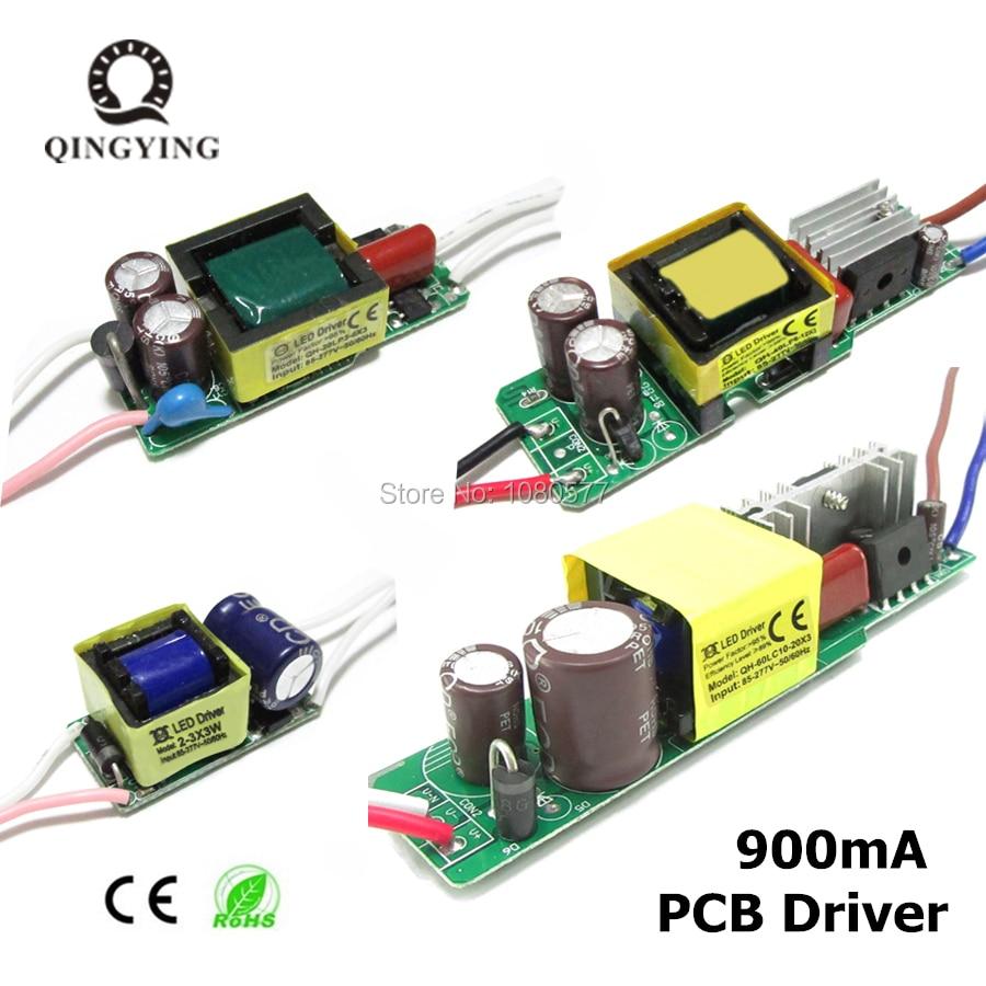 AC85-277V LED Driver 2-3x3w 3-6x3w 6-12x3w 10-20x3w 900mA 950mA Constant Current Lighting Transformers Lamp Power Supply