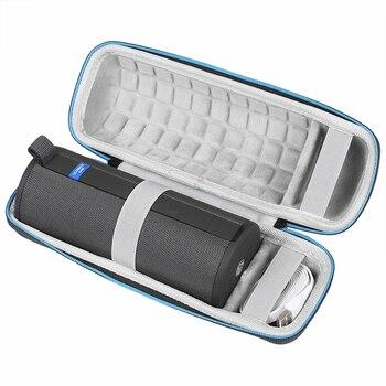 Estuche rígido para altavoz Logitech UE BOOM 3, inalámbrico por Bluetooth, compatible con Cable USB y cargador, bolsa para altavoces Bluetooth, Cajas de altavoces