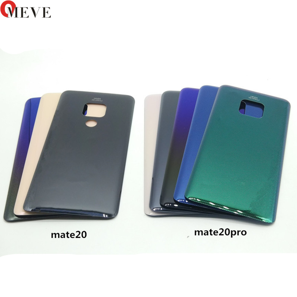 For Huawei Mate 20 Battery Cover Back Glass Panel Rear Door Housing Case For Huawei Mate 20 Pro Battery Cover Replace