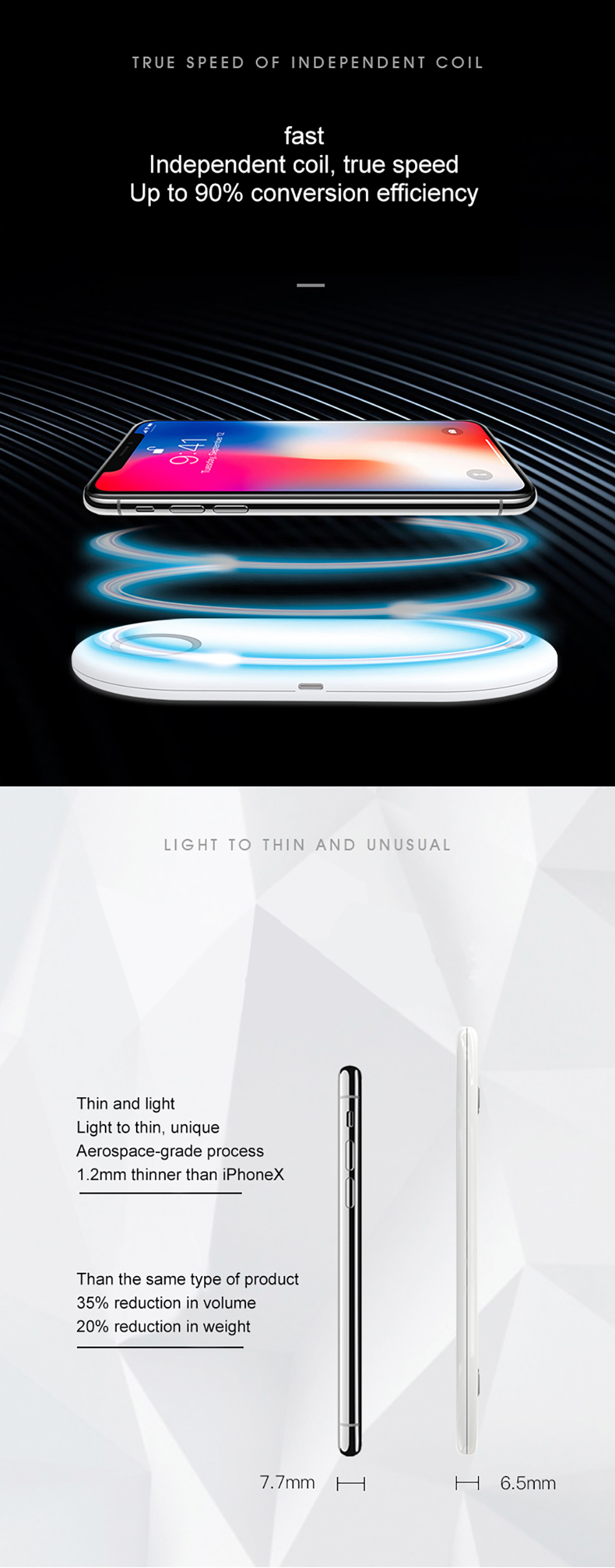 !ACCEZZ Qi Wireless Charger Fast Charging 3 in 1 For iPhone X XS Max 10W For Apple Watch Airpods USB Qi Charger Pad For Samsung (9)