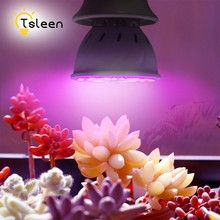 TSLEEN 10Pcs Led Grow Light E27 E26 220V Full Spectrum Red Blue Growing Spotlight Lamp For Hydroponics Flowers Plants Vegetables(China)