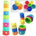 1 Unidades del bebé de juguete divertido educación pequeña aprendizaje Jenga juguete bloque juego para los niños Juguetes Educativos Juguetes