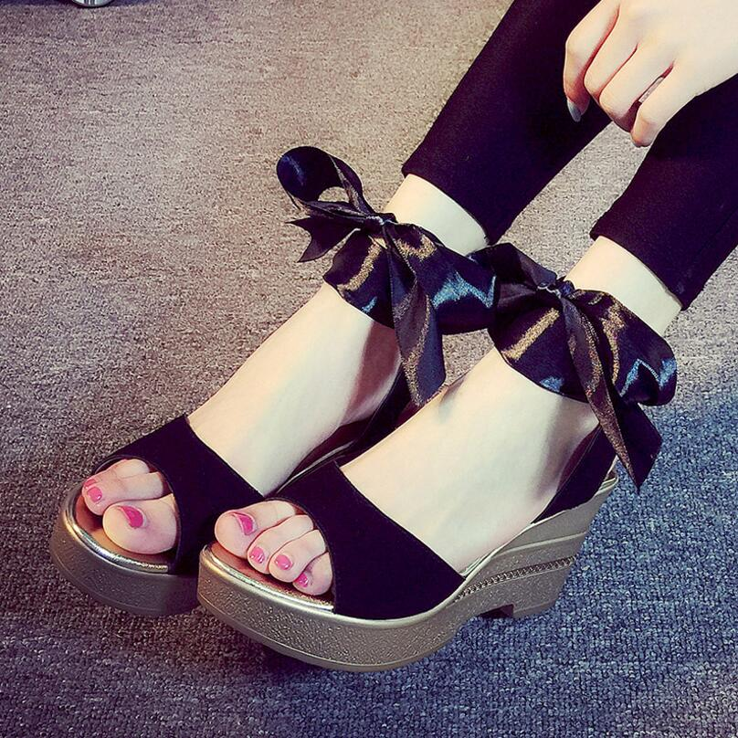 c627981f349b1 ... Alibanggood Hot Sale Lace Up Heels Big Size Shoes Women Sandals Summer  Shoes High Heel Open ...