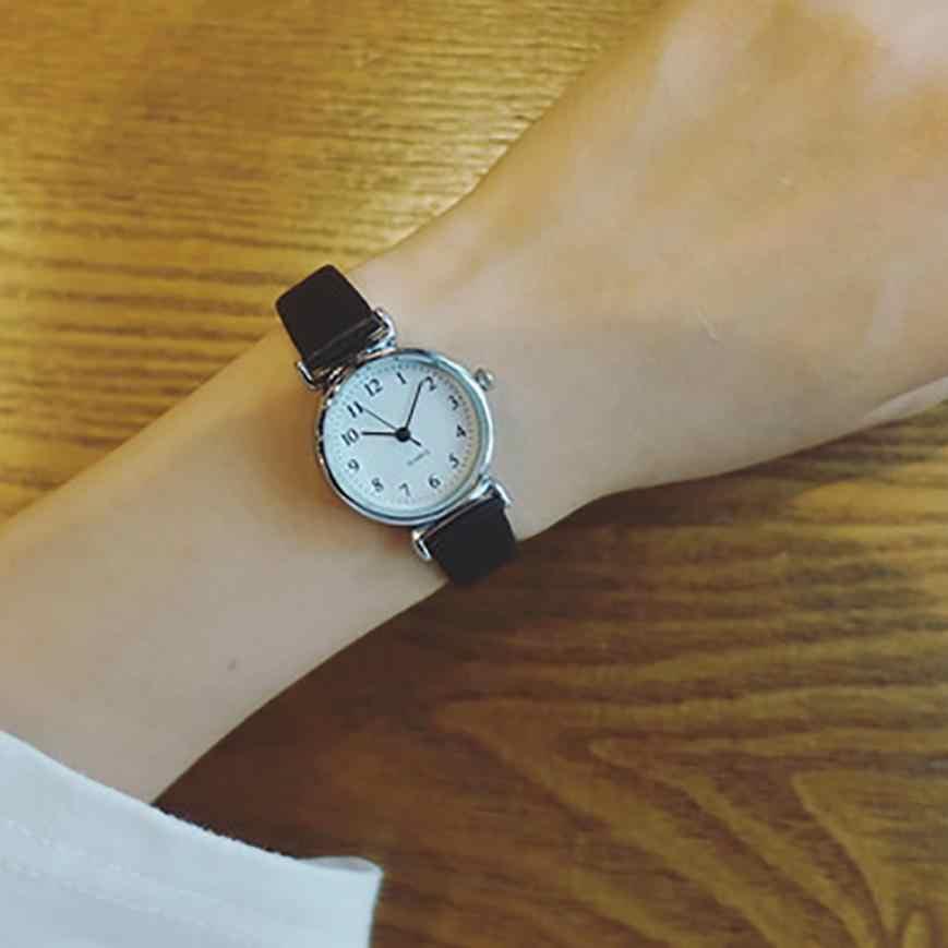 Mulheres de Pulso de Quartzo Analógico Mostrador Pequeno Delicado Relógio de Negócios de Luxo Relógios Relógios de Moda As Mulheres Se Vestem Relógios Casuais Top Q40