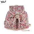 ZIWI Brand Spring Summer Flower Printing Backpack Canvas Fresh School Backpack For Women ZW141005D