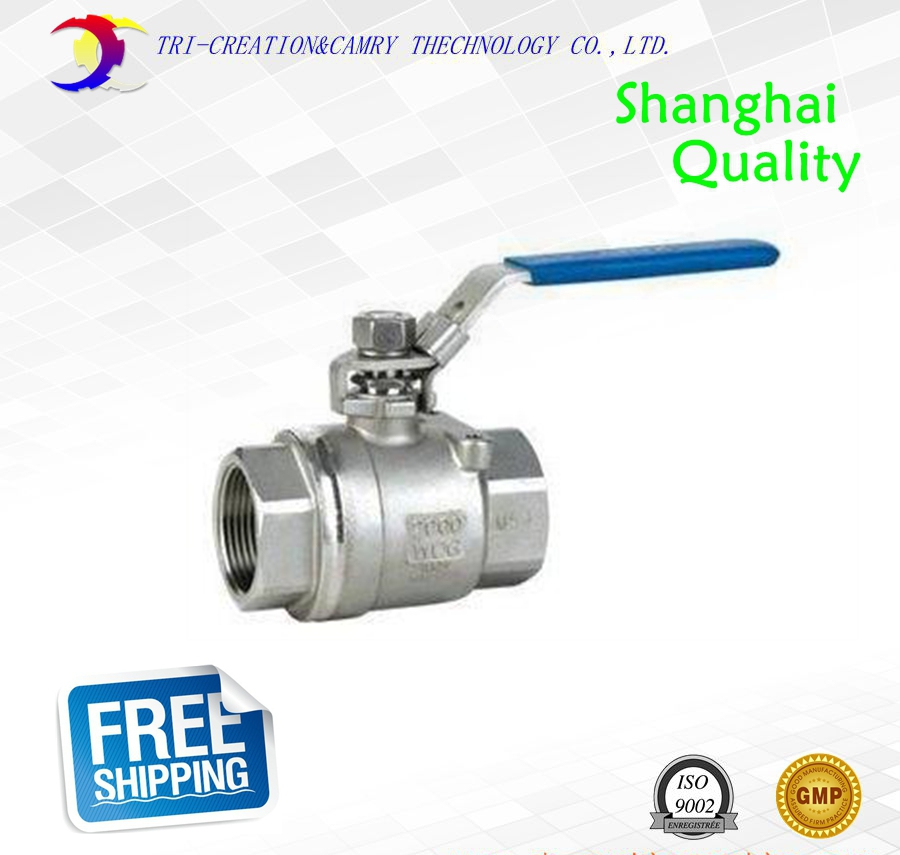2 DN50 female stainless steel ball valve,2 way 316 screwed/thread manual ball valve_handle straight way gas/oil/liquid valve