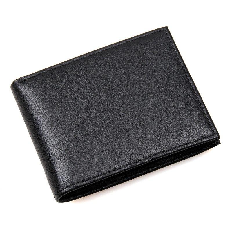 New Arrival Wallet Men Genuine Leather RFID Wallet Short Wallets Vintage Casual Purse Men More Card Bit Card Holder