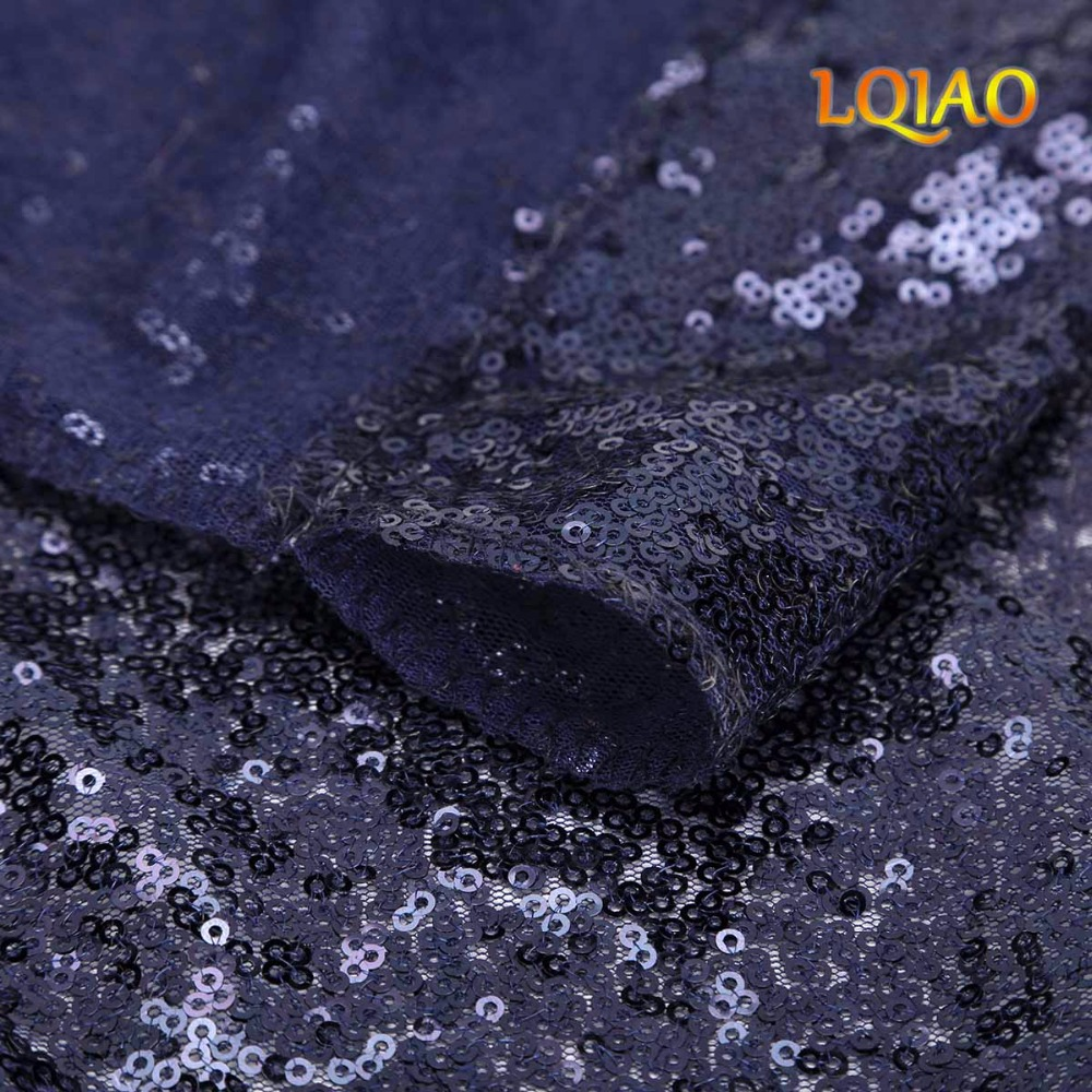 Dark Blue Sequin Backdrop-006