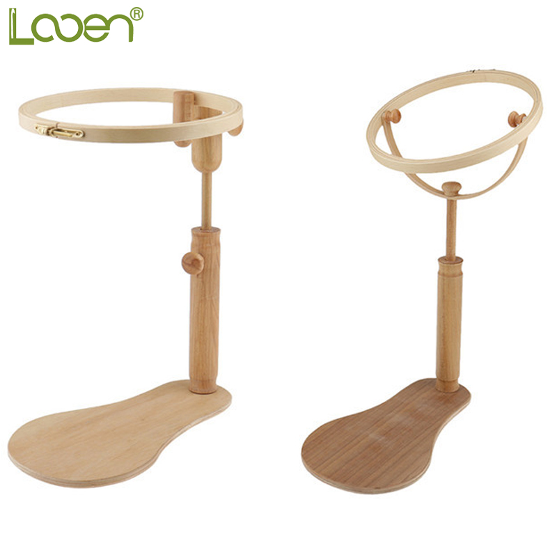 Looen 1 pcs Embroidery Stand Hoop Kayu Embroidery dan Cross Stitch Hoop Set Embroidery Hoop Ring Frame Alat Jahit laras
