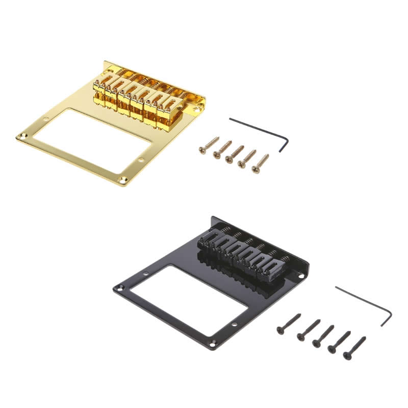New 6 Square Saddle Telecaster Humbucker Guitar Bridge Parts Accessories fender squier jim root telecaster flat white
