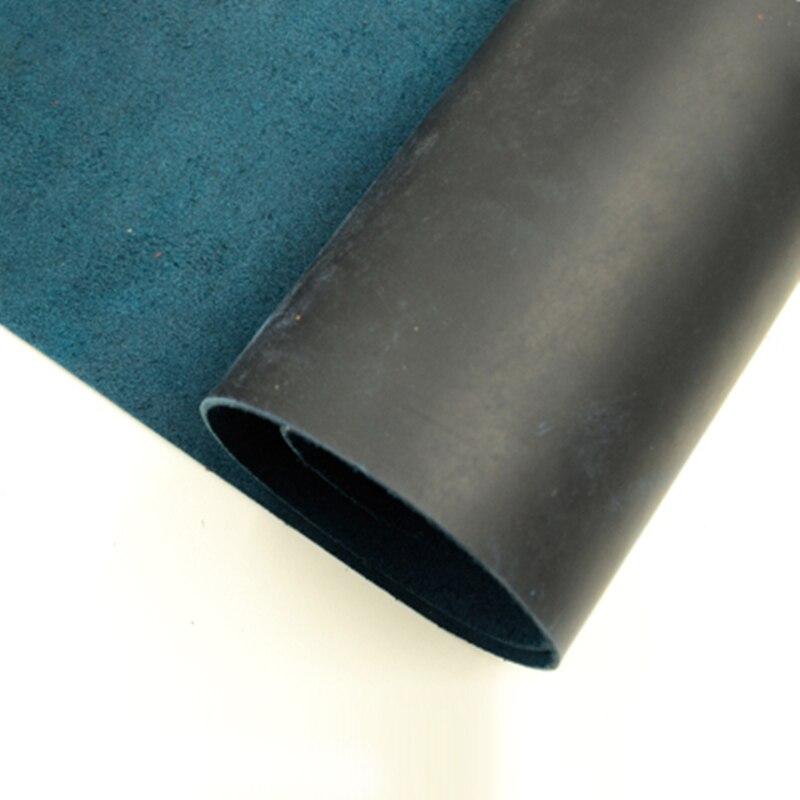 Dark Blue Natural Cow Skin Leather Crazy Horse Leather Color Genuine Leather For Diy Leather Craft For Belt Wallet Bag Shoes