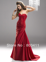 Freeshipping Sweetheart Neckline Corset Styled Bodice With Exposed Boning Taffeta Prom Dresses