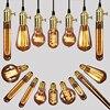 American Vintage Pendant Lights Copper Lamp Holder Tungsten Light Bulb Industry Pendant Lamps Golden Chrome E27