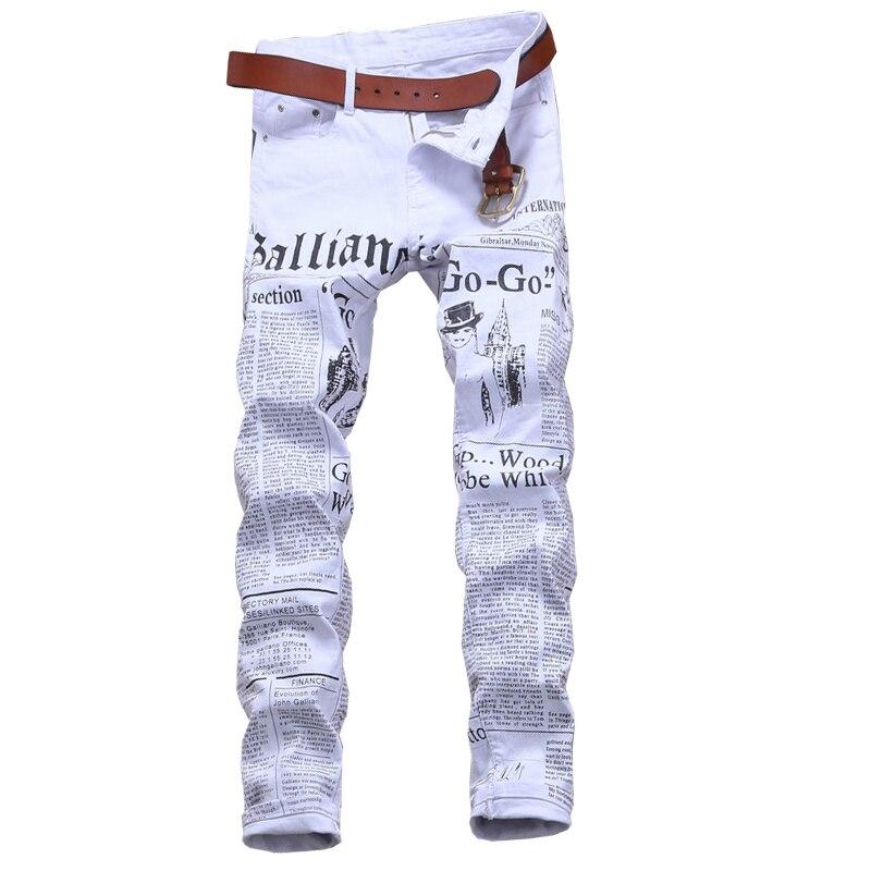 ФОТО  2017 new arrivals fashion printed men jeans pants denim casual trousers 29-38 JPYG174