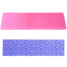 Lace Mold Mat Cupcake 3d Molde Chocolate Corazon Fondant Silicone Moulds for Cake Decorating Shape Candy