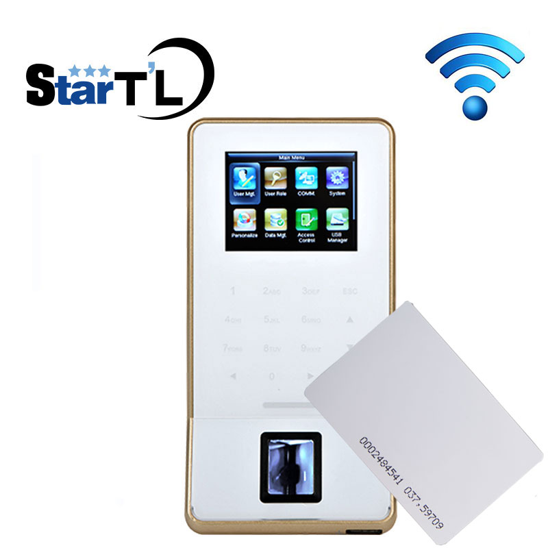 Free Shipping zk f22 WIFI TCP/IP wiegand RFID 125Khz card fingerprint Door Security Controller