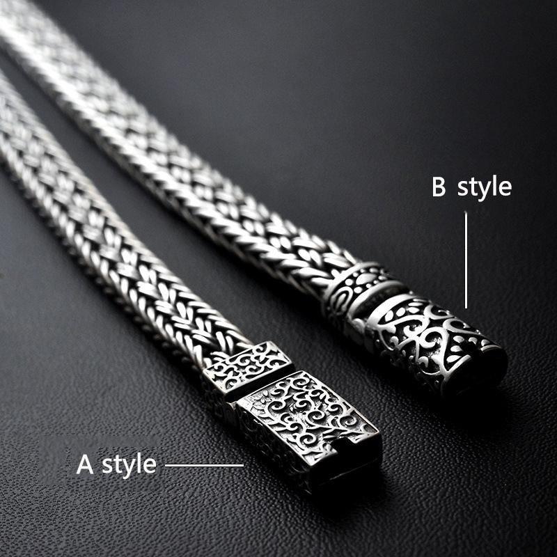 GAGAFEEL, 100%, 925, серебряные браслеты, ширина 8 мм, классический провод кабель, звено цепи, S925, тайские серебряные браслеты для женщин, мужчин, ювелирное изделие, подарок - 2