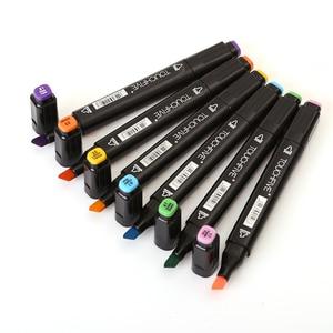 Image 3 - Touchfive marqueurs artistiques à base dalcool, 30/40/60/80/168 couleurs, pour dessin, fournisseurs danimation Manga, bon marché
