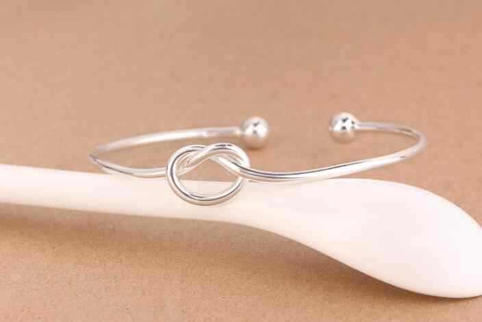 Jisensp, лидер продаж, браслеты-манжеты, открытый узел, браслеты и браслеты для женщин, аксессуары, свадебные подарки, подарок на Новый год, браслет homme