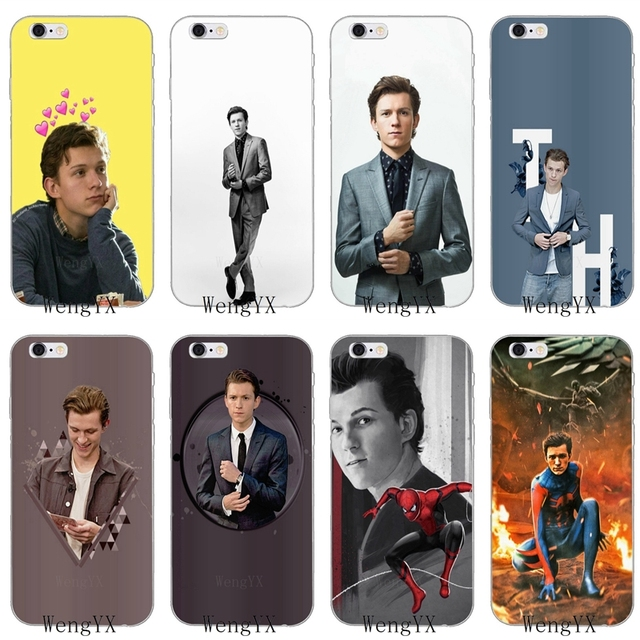 24a8a99fa1 Marvel Spider Man Tom Holland Slim silicone Soft phone case For iPhone X 8  8plus 7 7plus 6 6s plus 5 5s 5c SE 4 4s