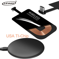 LEWEI Universal Qi Wireless Charging Kit Charger Adapter Receptor Pad Coil Receiver For IPhone 7 6s