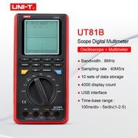 Mini Oscilloscope;Handheld Multimeter UNIT UT81B/UT81C Capacitance Volt Ampere Ohm meter Real Time Sample Rate 8 16MHz 40 80MS/s