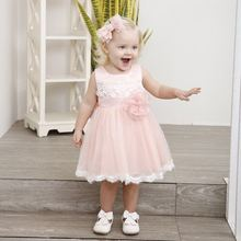 цены на Little Bride Dress Girls Summer Dress Kids Children Clothes 2018 Brand Baby Girl Cute Flower Character Princess Pink Dress  в интернет-магазинах
