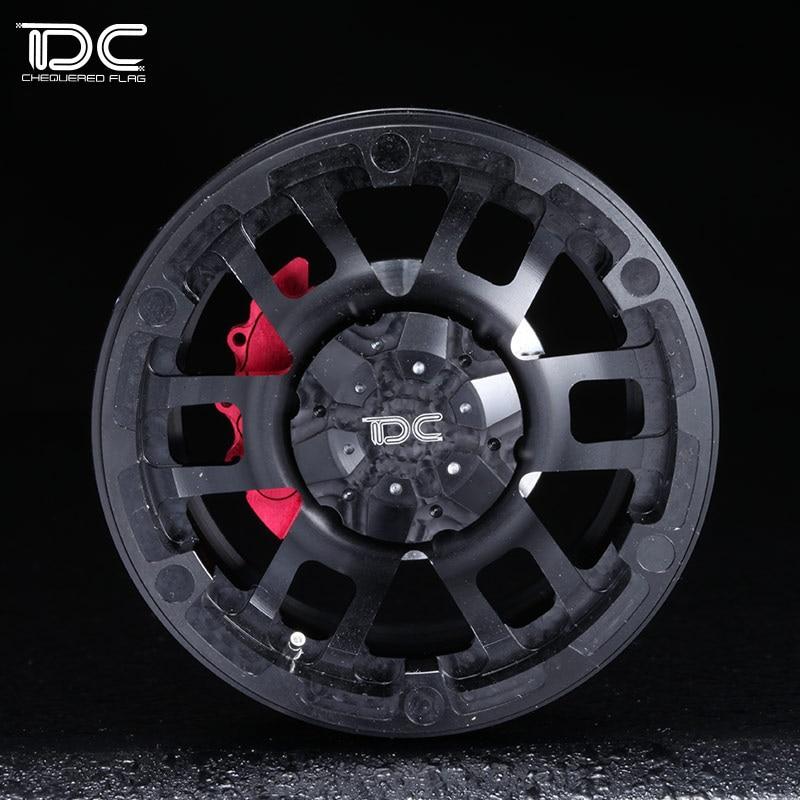 2.2inch High quality 6061 alloy CNC wheel Rim For 1/10 RC Crawler Car Traxxas TRX4 Ford Bronco RC4WD D90 Axial Scx10 90046 4pcs rc crawler 1 10 wheel rims beadlock alloy 1 9 metal rims rock crawler wheel hub parts for rc car traxxas rc4wd scx10 cc01