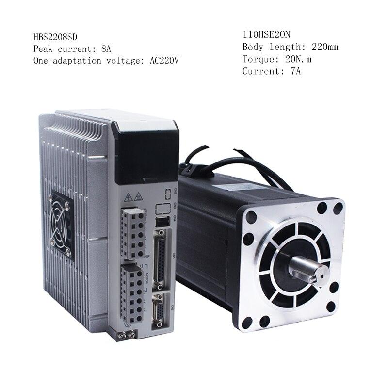 110 閉ループステッピングモータ高速サーボ 20Nm 1000rpm + HBS2208 300 125khz ドライバ高  電圧三相セット 110HSE20N + HBS2208  グループ上の 家のリフォーム からの ステッパ モーター の中 1