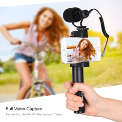 COMICA CVM-VM10-K1 Pro Smartphone Audio Video Microphone+Handle Grip+Carry Bag for iPhone X/8/7/6/6S,LG,Samsung Galaxy Note