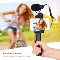 COMICA CVM VM10 K1 Pro Smartphone Audio Video Microphone+Handle Grip+Carry Bag for iPhone X/8/7/6/6S,LG,Samsung Galaxy Note
