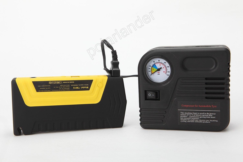 Voiture saut démarreur voiture batterie externe voiture démarrage d'urgence puissance avec pompe 10000 mAh voiture saut démarreur batterie externe booster batterie