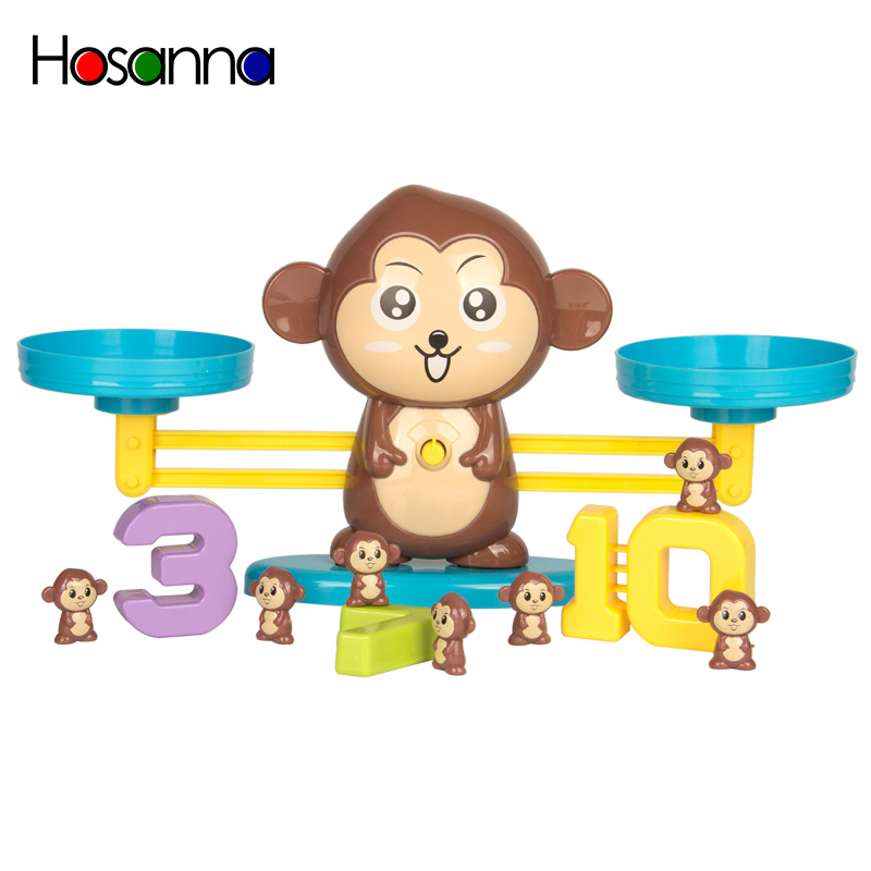 Montessori Toys Puppy Up Monkey Weigh Balance Scale Learning Counting Numbers Match Math Educational Toys For Preschool Children
