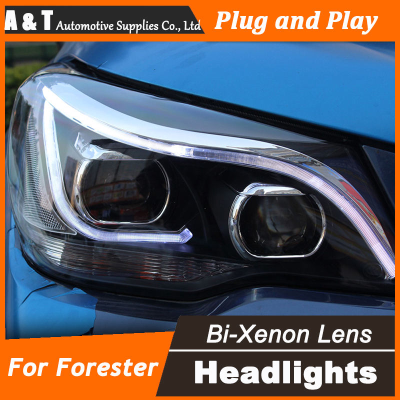 Car Styling for New Forester LED Headlight 2014 Subaru Forester DRL Lens Double Beam H7 HID Xenon bi xenon lens car styling for subaru outback led headlight europe headlights drl lens double beam h7 hid xenon bi xenon lens