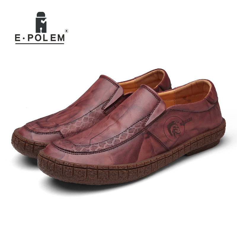 2017 Spring Autumn Hot Sale England Style Genuine Leather Men Shoes Male Business Casual Slip-On Breathable Comfortable Shoes 2016 new fashion genuine leather men casual oxford shoes zapatillas hombre hot sale good quality comfortable male shoes