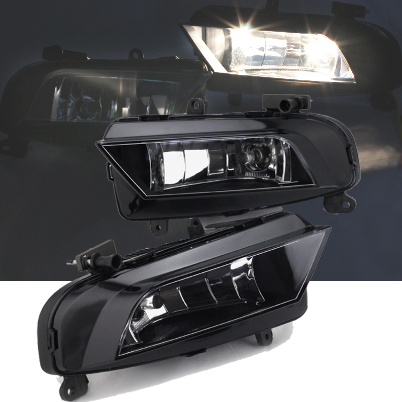 ФОТО One Pair Fog Light For 2012+ Audi A4 B9 Front Lower Driving Fog Light Left & Right Side With H8 35W 12V Bulbs