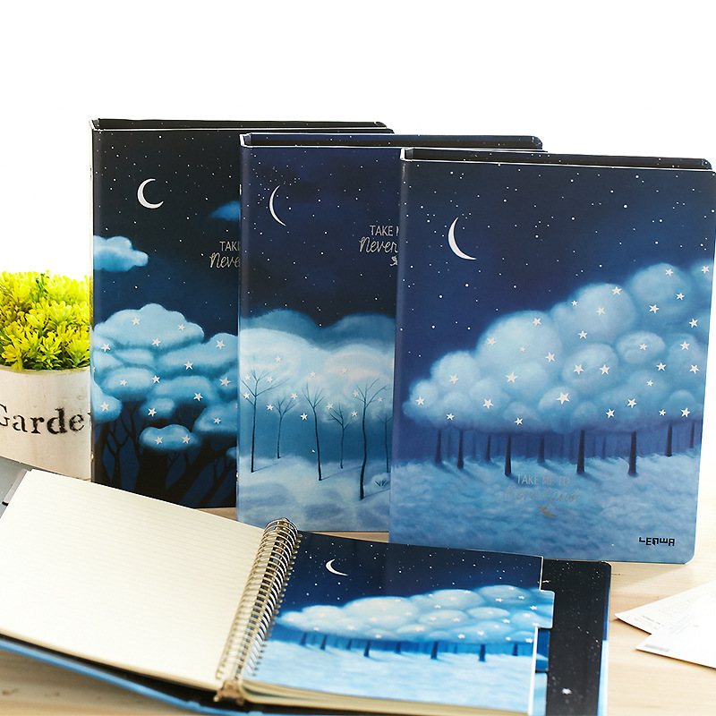 Neverland Loose Leaf Notebook Big Coil Spiral Hard Cover Diary Lined Papers Journal Study NotepadNeverland Loose Leaf Notebook Big Coil Spiral Hard Cover Diary Lined Papers Journal Study Notepad