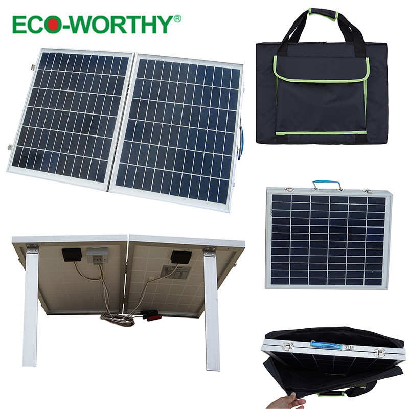 USA stock 1pcs 40W 18V Foldable Polycrystalline Solar Panel with Panel Bag for Camper, convenience outdoor